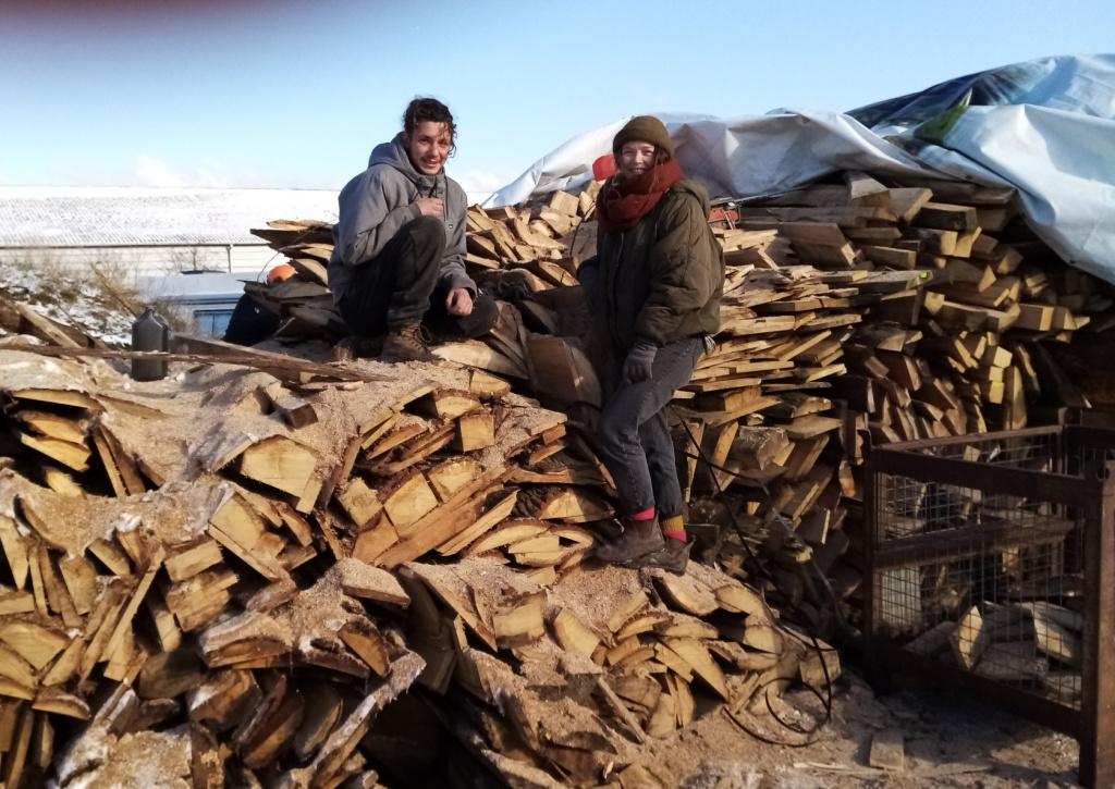 tas de bois pour le feu
